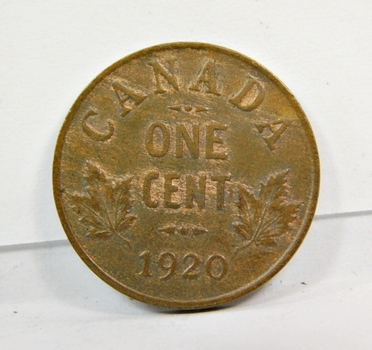 1920 Canadian One Cent Coin-Higher Grade-Well Struck! Red & Brown