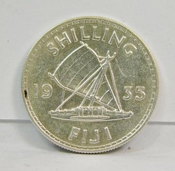 1935  Silver FIJI Shilling-Brilliant High Grade Coin! Private Collection Discovery!