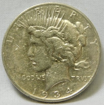 SCARCE DATE!! - 1934-D Peace Silver Dollar - Denver Minted
