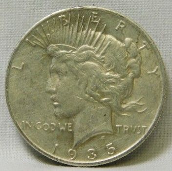 SCARCE DATE!! - 1935-S Peace Silver Dollar - San Francisco Minted