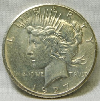 SCARCE DATE!! - HIGH GRADE!! 1927 Peace Silver Dollar - Philadelphia Minted - Very Good Detail and Luster