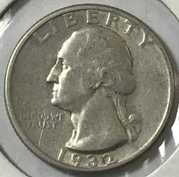 1932 Washington Silver Quarter - First Year of Issue