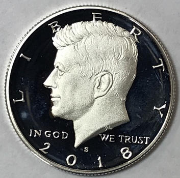 2018-S Kennedy Silver Half Dollar - High Grade Proof Condition w/ Deep Mirrors and Cameos