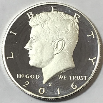2016-S Kennedy Silver Half Dollar - High Grade Proof Condition w/ Deep Mirrors and Cameos