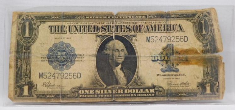 1923 $1 Large Size Saddle Blanket Silver Certificate