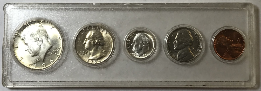 1964 Uncirculated Silver Coin Set - High Grade w/ Nice Luster