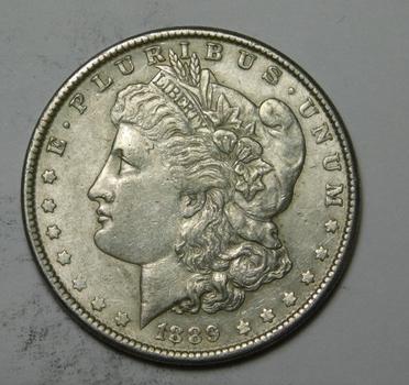 1889 Morgan SILVER Dollar - Sharp Detail! - Philadelphia Minted