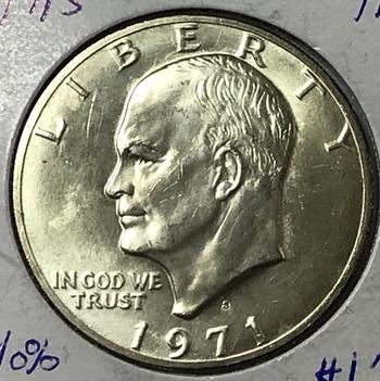 "1971-S Silver Eisenhower ""Ike"" Dollar - High Grade - Nice Luster"