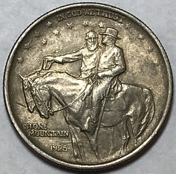 1925 Stone Mountain Silver Commemorative Half Dollar - High Grade