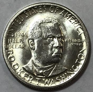 1946 Booker T. Washington Silver Commemorative Half Dollar - High Grade Brilliant Uncirculated