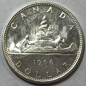 1966 Canada Voyager Silver Dollar - High Grade w/Nice Luster