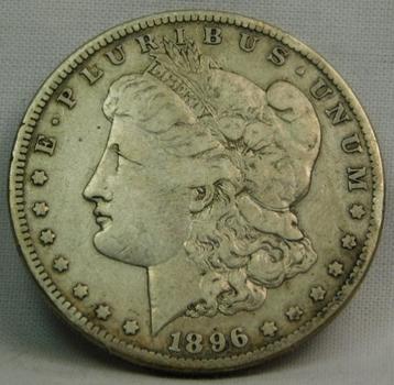 1896-S Morgan Silver Dollar - LIBERTY Clearly Visible - Struck at the San Francisco Mint