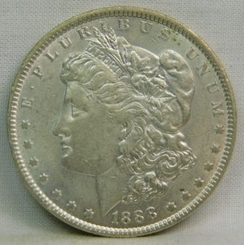 1888 Morgan Silver Dollar - Excellent Detail and Luster