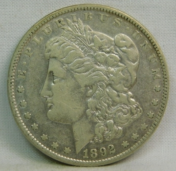 1892 Morgan Silver Dollar - Nice Detail - Philadelphia Minted