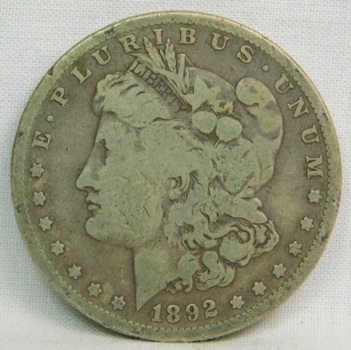 1892-S Morgan Silver Dollar - LIBERTY Fully Visible - Struck at the San Francisco Mint