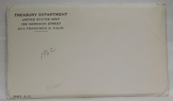 1962 United States Silver Uncirculated Coin Set - Both P & D Mint Marks