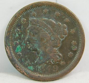 1849 Braided Hair Variety Large Cent