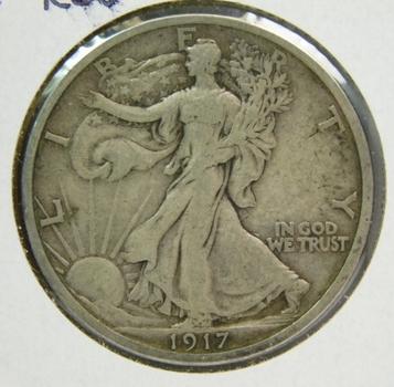 1917-S Silver Walking Liberty Half Dollar - San Francisco Minted