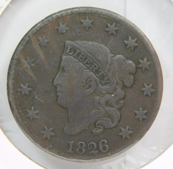 1826 Matron Head Large Cent - LIBERTY Fully Visible - Nice Detail