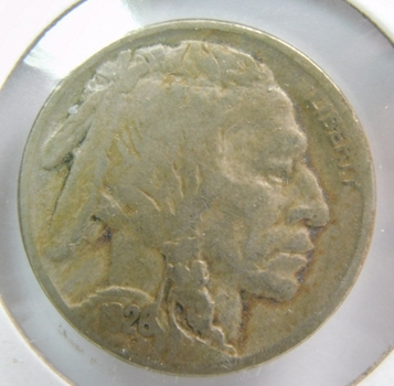 1926 Buffalo Nickel - Well Outlined with Clear Date - Partial Horn