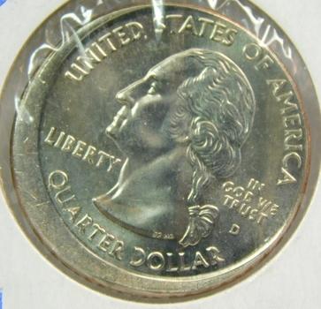 MINT ERROR!! - 2005-D California State Commemorative Quaker - Broadstruck - 18% Off Center - Struck at Denver Mint - Perfect Detail and Luster