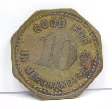 Vintage Trade Token - Everest, Iowa - The Everest Mercantile - Good For 10c In Merchandise