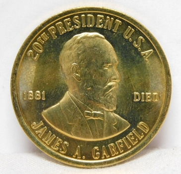 1881 James Garfield 20th President Commemorative Coin/Medal