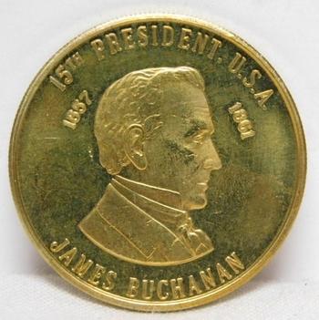 1857-1861 James Buchanan 15th President Commemorative Coin/Medal