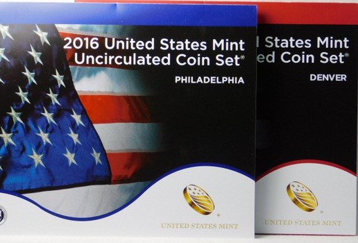 2016 United States Mint Uncirculated Coin Sets/Philadelphia and Denver