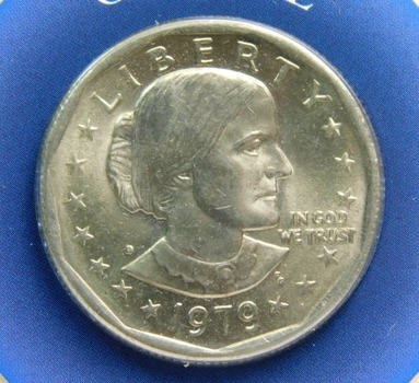 1979-D SBA Dollar with Custom Informational Card