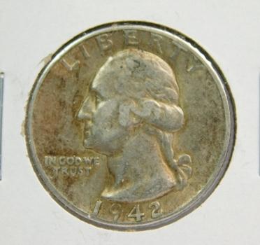 1942-D Washington Silver Quarter
