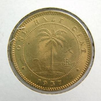 1937 Liberia 1/2 Cent - High Grade