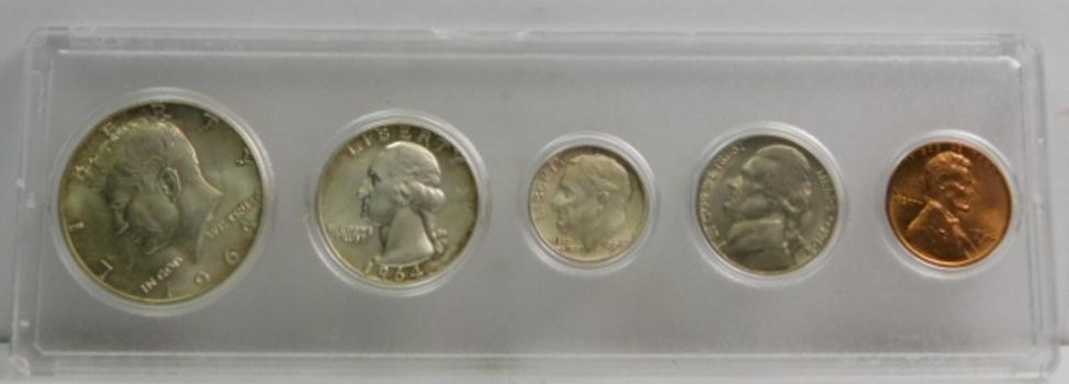 1964 US Mint Year Set Uncirculated P & D Mints (5 Total Coins)