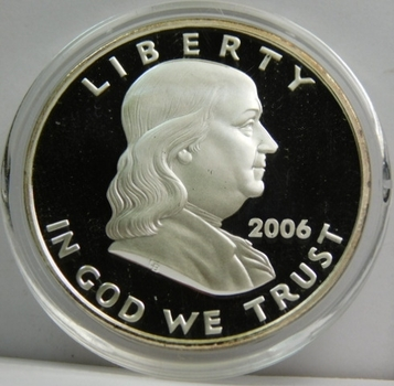 2006 Ben Franklin .999 Silver Clad Proof