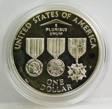 1994-P Silver One Dollar Vietnam Veterans Memorial SILVER PROOF (Veterans Commemorative Set)