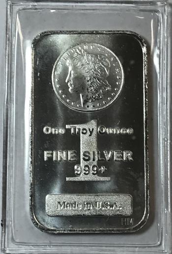 Morgan Silver Dollar 1 oz .999 Fine Silver Bar - Still Sealed in Original Protective Packaging