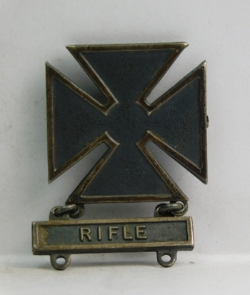 Sterling Silver Military Marksman Medal
