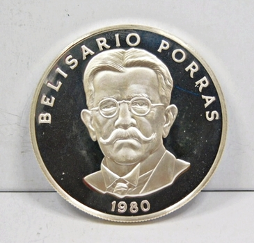 RARE 1980 Panama Proof Silver 5 Balboas