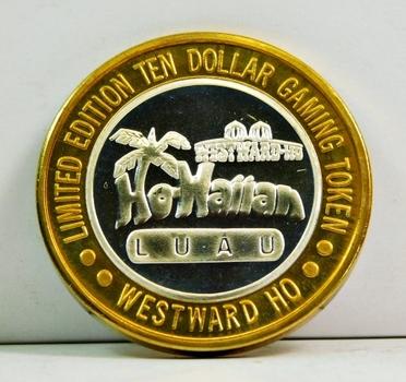 Silver Strike - .999 Fine Silver - Westward Ho Casino  - Limited Edition $10 Gaming Token  - Las Vegas, Nevada