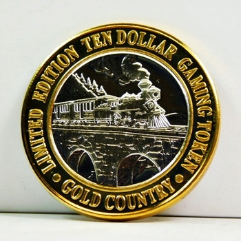 Silver Strike - .999 Fine Silver - Gold Country Motor Inn  - Limited Edition $10 Gaming Token  - Elko, Nevada