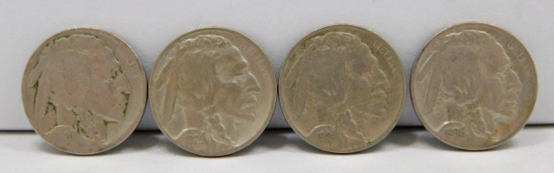 (7) Different Dated Buffalo & Liberty V Nickels-Some Mint Marked