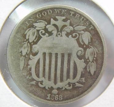 1868 Shield Nickel - Nice Detail