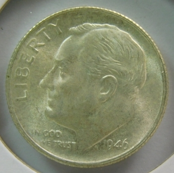 1946-S Silver Roosevelt Dime - Full Torch - Excellent Detail - High Grade Coin