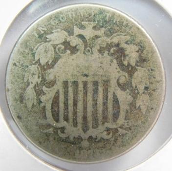 1873 (Open 3) Shield Nickel