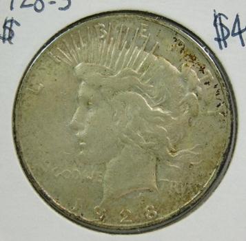 1928-S Peace Silver Dollar - San Francisco Minted