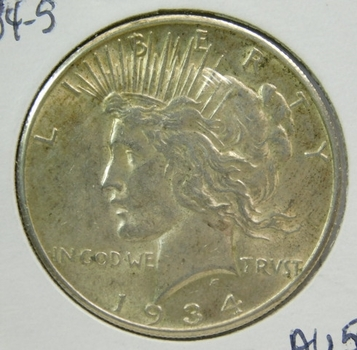 1934-S Peace Silver Dollar - San Francisco Minted