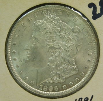 1896 Morgan Silver Dollar - Excellent Detail and Luster - Philadelphia Minted