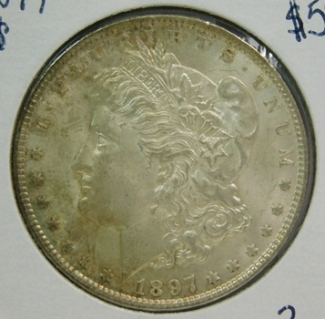 1897 Morgan Silver Dollar - Philadelphia Minted - Good Detail with Luster