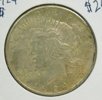 1924 Peace SILVER Dollar - Philadelphia Minted