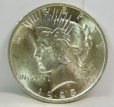1923 Brilliant Uncirculated Peace Silver Dollar - Excellent Detail and Luster Struck at Philadelphia